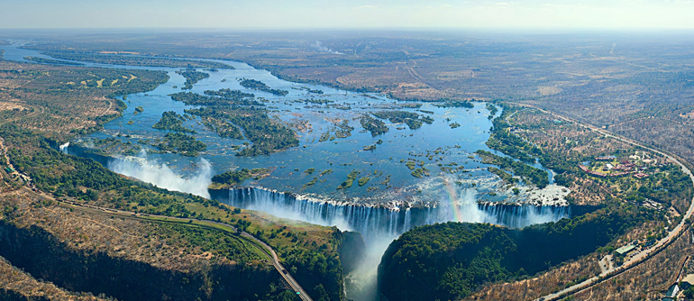 Victoria Falls Zambia And Zimbabwe Border 360 Degree