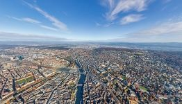 Bird's eye view of Zurich