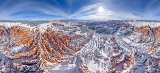 Main Amphitheater. View to the Inspiration point, Bryce Canyon, USA