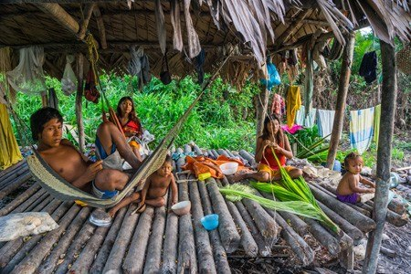 Warao Indians. Delta of the Orinoco River, Venezuela