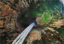 Eagle's Eye View of the Churun-meru (Dragon) fall, Venezuela