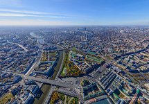 Moscow from the altitude of 540 meters