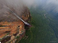 Venezuela, Angel Falls, view from 700m.